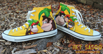 Donkey Kong 64 Custom Shoes by HeySasoo