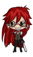Grell Chibi by IcyPanther1