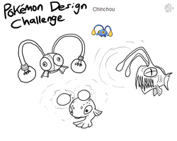 Pokemon Design Challenge - Chinchou by DragonwolfRooke