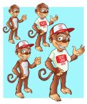 Funky Monkey Mascot by GaguProject