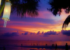 Philippines: Boracay Sunset by etheara