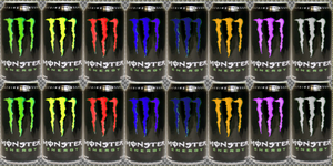 monster energy drinks coloured by iverlacsa
