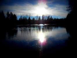Sunshine above the river by Miimi90