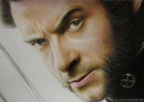 Hugh Jackman Logan Wolverine X-Men by im-sorry-thx-all-bye