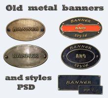 Old metal banners by jojo-ojoj