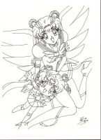 Eternal Sailor Moon y S. Chibi by SEIROTH