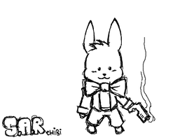 Secret Agent Rabbit Chibi by Secret-Agent-Rabbit