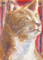 Art Card: Portrait of a Cat by Sketchee