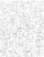 Earthbound sketches by Loopy-Lupe