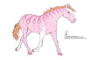 Pink Peacock Horse by micro-pup