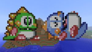 Bub and Bob redone in Minecraft (Bubble Symphony) by superslinger2007