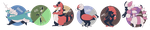 White 2 Nuzlocke Lineup by LittleAnchovy