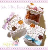 Cute little Cake boxes by colourful-blossom