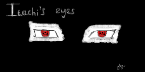 Itachi's eyes by sofiglushenko