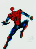 Sensational spider-man colored by Panther10