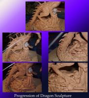 Dragon Sculpture progression by dragonphysic