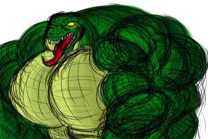 Bigass Muscular Lizard by EmotionCreator