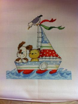Cat and Dog boat, Cross Stitch Crazy 190 by StitchingDreams