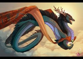 Eastern Flare by neondragon