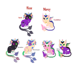 Unicats, Breeding batch 1 (OPEN) by The-Skittle-Overlord