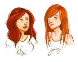 Lily and Ginny by clarkey-lou