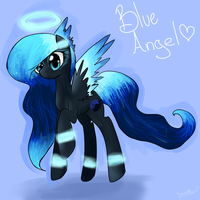 Commission for DestinyBlackKitty - Blue Angel :) by Nuupen