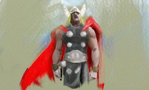 thor paint by fumeista23