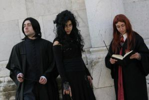 Severus, Bellatrix and Lily by WhiteCatblueyes