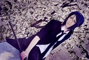 Kuroh - Season of falling cherry blossoms by AmiTheStalker