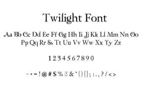 Twilight-Zephyr Font by runswithvamps