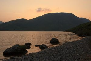 Crummock Water Sunset by parallel-pam