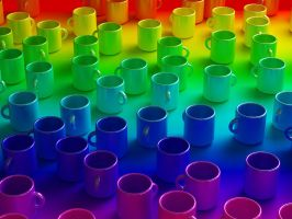 Rainbow Cups by IamZandar
