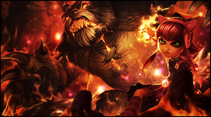 Annie and tibbers by Khirono