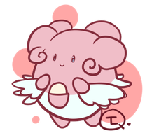 Doodley Chibi Blissey by TheLonelyQueen