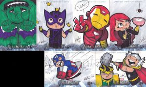 The Avengers Assemble AP Sketch Cards by mashi