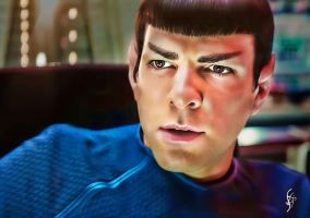 Spock on the Bridge by fenraven