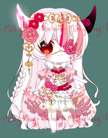 PINK FLOWERS - ADOPT - CLOSED (set price) by MilkyWay-Galaxy