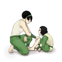 Request - Toph and Lin Bei Fong by Snowman1940