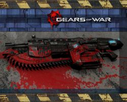 Gears of War Lancer Wallpaper by Trekkie5000