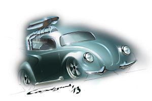 Custom VW Beetle Rod by candyrod
