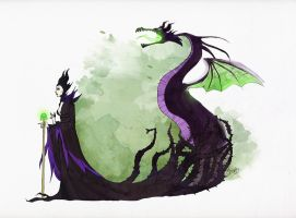 Maleficent by SilentEve