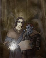 Dunmer and Altmer by karnessa-anderson