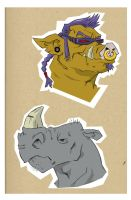 BEBOP and ROCKSTEADY by JERALDOLEWIS2