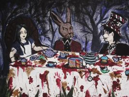 Nightmare Mad Tea Party by Ophelia-Nightshade