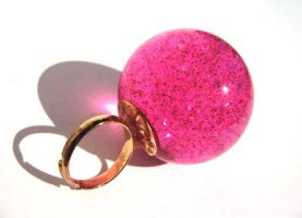 Pink Galaxy ring by pinkminx