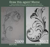 Draw This Again Meme - Filigree by KrisHanson