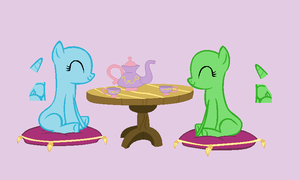 Ponies Having A Tea Party Base by Rain-Approves