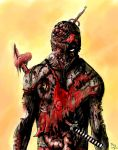 Deadpool Zombie by DougSQ