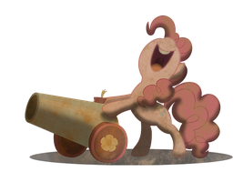 pinkie wasteland party cannon by MetaDragonArt