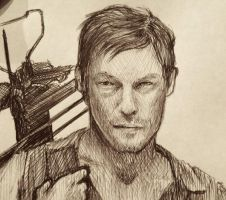 Daryl Sketch by ShadowSeason